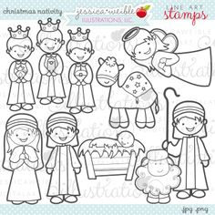 nativity finger puppets and templates | for kids | pinterest ... - Nativity Character Coloring Pages