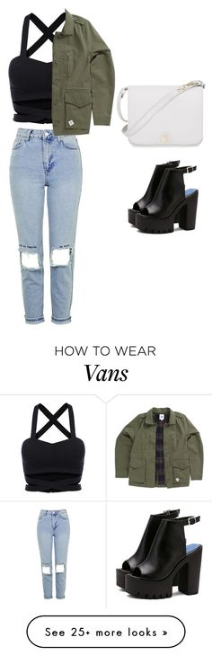 """Just kaki"" by bestylished on Polyvore featuring Topshop, Vans and Furla"