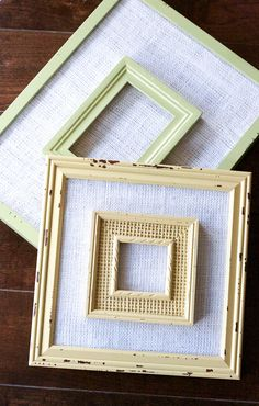 Frame within a frame DIY project. Creative way to repurpose old frames. Make it rustic!
