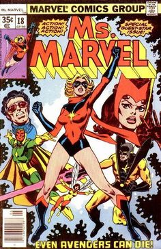 Great Comic Book Covers — Ms. Marvel #18, by Al Milgrom (Featuring Ms....