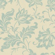 Adeline Duck Egg R1872 by Walls Republic With the all-over damask pattern and the shiny neutral background, Adeline brings the vintage floral damask look to your room.
