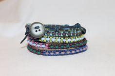 Leather Wrap Bracelet by DaisysCuteAsAButton on Etsy, $50.00
