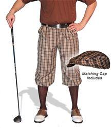 Men's Blackburn Par 5 Wool Golf Knickers & Cap by GolfKnickers.  Buy it @ ReadyGolf.com