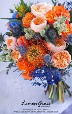 62 trendy ideas wedding dresses blue brides – Bouquet Of Sunflowers Fall Wedding Bouquets, Bride Bouquets, Flower Bouquet Wedding, Floral Bouquets, Wedding Dresses, Boquet, Bouquet Flowers, Orchid Flowers, Orange Flowers