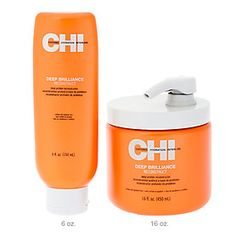 For dried out hair from heat and chlorine, CHI Deep Brilliance Reconstruct is a deep protein reconstructor enriched with silk and milk proteins.