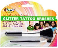 Glitter Tattoo Brush Set Party Accessory $1.79 (57% OFF)