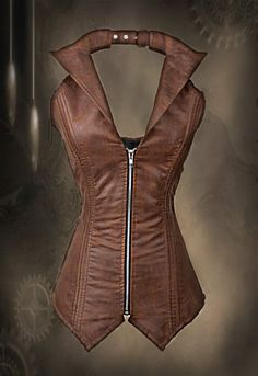 Brown Steampunk Corset by bellydanceon on Etsy