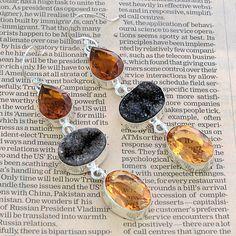 Indian Jewellery – Smoky Quartz Earrings/ Silver Dangle Earrings – a unique product by 925silvercollection on DaWanda