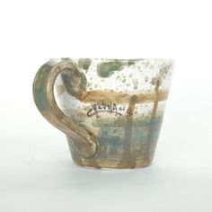 Natura Green & Moss Abstract Mug by Enea Calonaci | shop more of the collection at http://www.giardinidisole.com/shop-tabletop-ceramics
