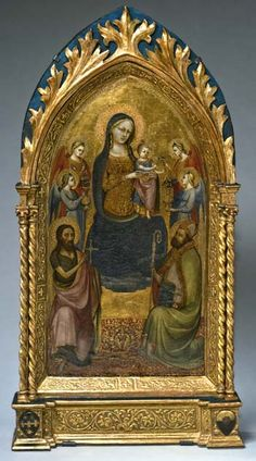 """""""Virgin and Child enthroned with Saints John the Baptist and Nicholas of Bari"""" - Marco Grassi"""