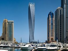 Cayan Tower by  SOM – Skidmore, Owings & Merril LLP (Dubai, United Arab Emirates) #architecture