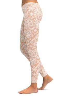 119e4ef6a8ee1 These pair with almost everything in my closet! Outstanding Quality White  Faux Lace Leggings from