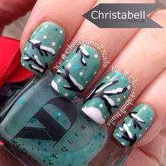 Christmas Holiday Nail Art, Artist: @Christabellnails