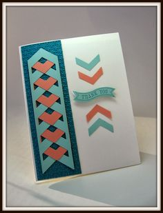 stamping up north: Stampin Up Cards....LOTS of them!  Neat use of the chevron punch.