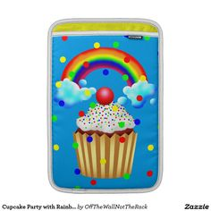Cupcake Party with Rainbow & Sprinkles Sleeve For MacBook Air