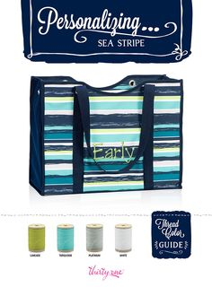 Sea Stripe is super-fun! Make this bag even more special with personalization!