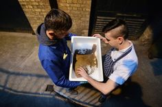 Taking in a delivery of fresh fish.   Photograph: Alan Betson / The Irish Times