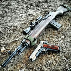 ・・・ The Scout and Commander. Scout Squad with the Ruger CMD. Weapons Guns, Guns And Ammo, Scout Rifle, Battle Rifle, Indoor Shooting Range, Springfield Armory, Cool Guns, Shotgun, Firearms
