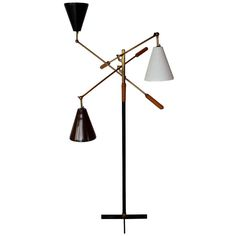 Early Brass Triennale Floor Lamp by Arredoluce | From a unique collection of antique and modern floor lamps  at http://www.1stdibs.com/furniture/lighting/floor-lamps/