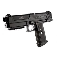 Badlands Paintball offers the Tippmann TiPX Paintball Gun Pistol. Tippmann TiPX is great paintball guns that include two the new Tru-Feed Straight Stack magazines. Paintball Field, Paintball Gear, Airsoft Gear, Double Barrel, Self Defense, Firearms, Hand Guns, Gears, Markers