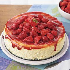 Ricotta Cheesecake with Strawberries | MyRecipes.com