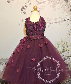 Our beautiful Plum Satin Ribbon Shoulder Flower Girl Dress with hints of Plum is elegantly accented with Hydrangea flower petals with pearl or rhinestone centers. Our dress style is perfect for showcasing your precious little flower girl. Plum Flower Girl Dresses, Girls Dresses, Bridesmaid Dresses, Prom Dresses, Formal Dresses, Dress Prom, Plum Flowers, Hydrangea Flower, Flower Petals