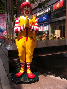 Ronald MacDonald in Bangkok,Thailand.