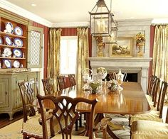 1000 images about home dining on pinterest country for Casual formal dining room