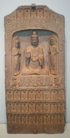 Image from http://upload.wikimedia.org/wikipedia/commons/4/41/Limestone_stele_of_buddha_%26_2_bodhisattvas_SF_Asian_Art_Museum_B60S73%2B.JPG.