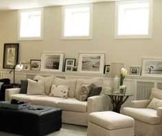 j and l projects: Basement Family Room Inspiration
