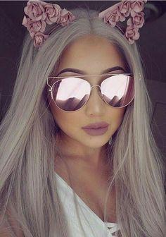 Stylish Sunglasses, Cat Eye Sunglasses, Mirrored Sunglasses, Sunglasses Women, Lace Front Wigs, Lace Wigs, Lunette Style, Fashion Eye Glasses, Womens Wigs