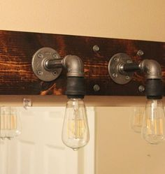 Industrial Style Bathroom Lighting. Diy Industrial Bathroom Light Fixtures