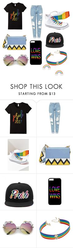 """Untitled #304"" by alexandriamcbride on Polyvore featuring Topshop, Converse, Prada and INC International Concepts"