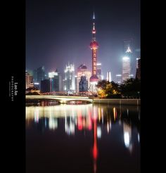 Pudong Lujiazui Shanghai Skyline Reflections (Vertical) by Lao An (PhotonMix), via Flickr
