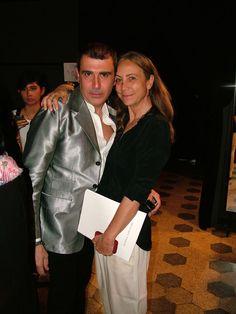 Michele Miglionico and journalist Cinzia Malvini
