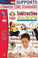 Timed Subtraction Facts (Enhanced eBook). Download it at Examville.com - The Education Marketplace. #scholastic #kidsbooks @Karen Echols #teachers #teaching #elementaryschools #teachercreated #ebooks #books #education #classrooms #commoncore #examville