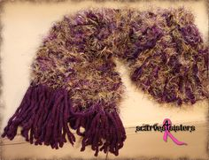 Scarves4Sisters...custom made scarves out of very soft yarns.  All proceeds benefit breast cancer research through Team Priceless at the Dallas/FW Susan G. Komen 3Day for the Cure.  Place orders now! https://www.facebook.com/scarves4sisters
