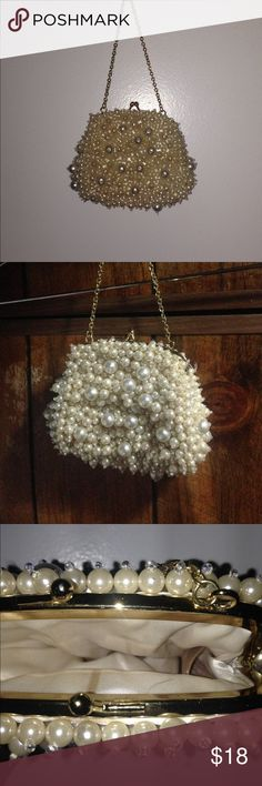 Pearl studded purse Pearl studded purse. Great for prom or night on the town Bags