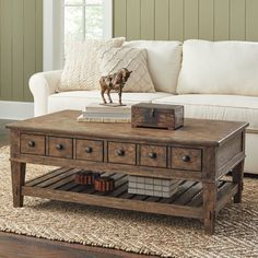 Birch Lane Derrickson Coffee Table with Drawers