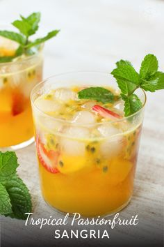 This light, but full-flavored sangria is reminiscent of the vacation of your dreams. The perfect drink for a summer evening whether you are in Honolulu, Noosa, Mal Pais or your backyard. Sangria Recipes, Cocktail Recipes, Smoothie Recipes, Fruit Drinks, Fruit Snacks, Beverages, Fruit Party, Summer Drinks, Cocktail Drinks