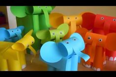 Too Many Elephants craft from Relief Teaching Ideas