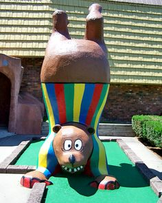 Goony Golf miniature golf course Lake George NY has been a favorite family attraction for over 30 years! Fun characters, water features and Gift World souvenier shop! Bolton Landing, Lake George Ny, Miniature Golf, Golf Gifts, Water Features, Fun, Water Sources, Putt Putt, Water Gardens