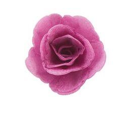 Dekorace oplatková - Růže malá 30 mm, fialová