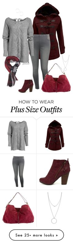 """""""Winter morning- plus size"""" by gchamama on Polyvore featuring WithChic, M&Co, Ellos, Breckelle's, Jimmy Choo, Burberry and Botkier"""