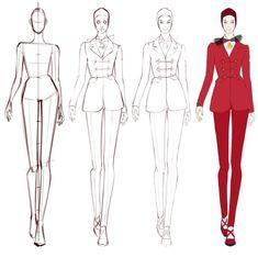 Dress Design Drawing, Dress Design Sketches, Fashion Design Sketchbook, Fashion Design Drawings, Fashion Sketches, Fashion Illustration Poses, Fashion Illustration Tutorial, Illustration Mode, Fashion Model Drawing