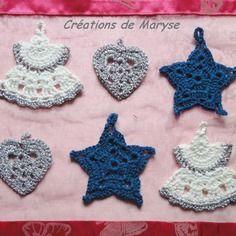 Décorations de Noël au crochet  Dans ma boutique : http://www.alittlemarket.com/boutique/creations_de_maryse-558049.html