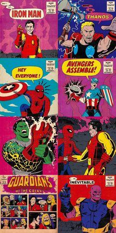 Marvel Comics, Hq Marvel, Old Comics, Marvel Heroes, Marvel Characters, Avengers Cartoon, Avengers Poster, Avengers Art, Wolverine Art