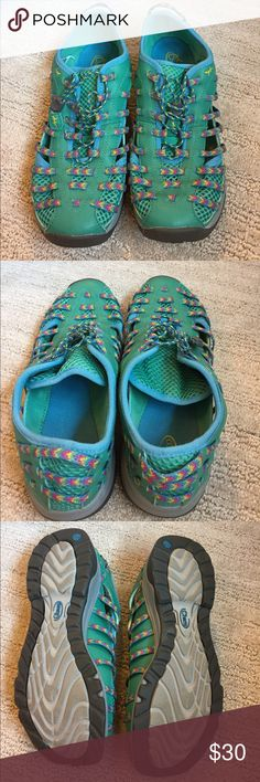Chaco Outdoor Shoes Colorful outdoor shoes by Chaco. Great condition. Very comfy. Chaco Shoes Sneakers