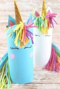 Try these fun unicorn crafts for kids at home this holidays! This unicorn paper tube art & craft project is easy and cool so everyone will enjoy! Read now! Crafts Fir Kids, Crafts For Teens To Make, Diy Crafts For Kids, Fun Crafts, Decor Crafts, Kids Diy, Simple Crafts, Creative Crafts, Crafts Cheap