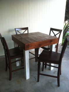 Reclaimed Pallet Wood Dining Table Upcycled by Lapalletcreations, $299